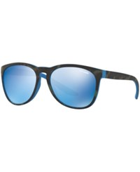 Arnette Sunglasses An4227 Tortoise Green Blue Mirror