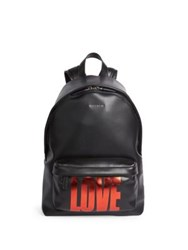 Givenchy Small Love Leather Backpack Black Red