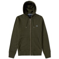 Fred Perry Loopback Hooded Sweat Green