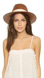 Hat Attack Panama Continental Hat Brown Ivory