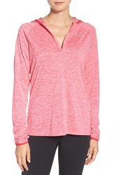 Under Armour Women's 'Tech Twist' Split Neck Hoodie Pink Sky Knock Out Silver