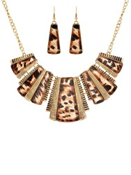 Ruby Rocks Animal Print Gold Necklace
