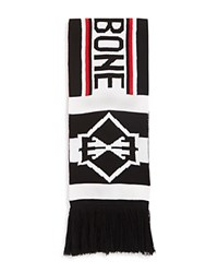 Rag And Bone Matthew Scarf Red White Black