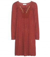 Velvet Sloane Embroidered Crepe Tunic Dress