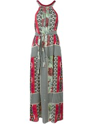 Etro Mixed Print Maxi Dress Red