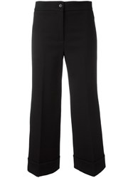 L'autre Chose Tailored Cropped Trousers Black