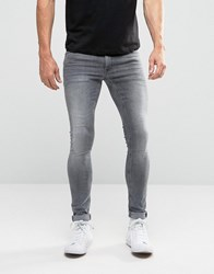 Asos Extreme Super Skinny Jeans In Light Grey Light Grey