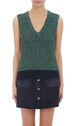 Rag And Bone Women's Aubrey Tank Navy Green Light Blue