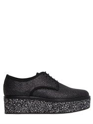 Sergio Rossi 50Mm Glittered Lace Up Shoes