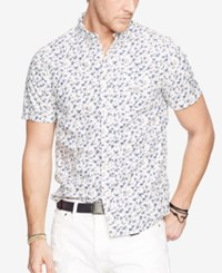 Denim And Supply Ralph Lauren Floral Print Cotton Sport Shirt White
