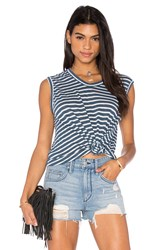 Wilt Shadow Stripe Muscle Tank Blue