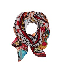 Desigual Opium Poppy Black Scarves