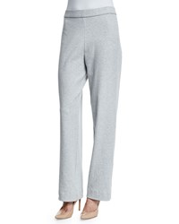 Joan Vass Stretch Cotton Interlock Pants Cornflower