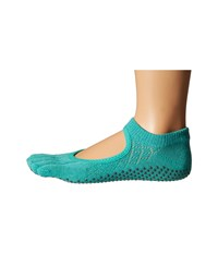 Toesox Bella Half Toe W Grip 1 Pair Pack Fishnet Lagoon Women's Low Cut Socks Shoes Green