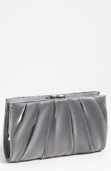 Nina 'Larry' Satin Clutch Grey Pewter