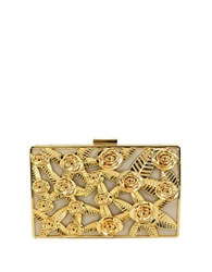 La Regale Rose Cased Metal Minaudiere Sand