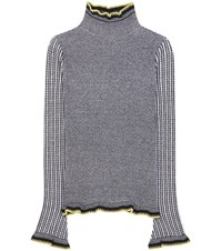Etro Wool Cashmere And Silk Sweater Black