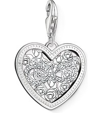 Thomas Sabo Charm Club Silver And Zirconia Infinity Heart Charm Pendant