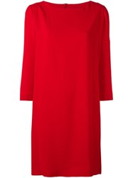 Gianluca Capannolo Boat Neck Shift Dress Red