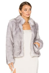 Unreal Fur Silver Lining Faux Jacket Light Gray