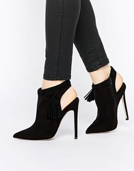 Asos Eugenie Pointed Ankle Boots Black