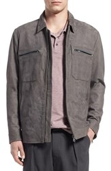 Men's Vince Nubuck Leather Utility Jacket