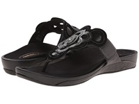 Aetrex Candace Thong Sandal Black Women's Wedge Shoes