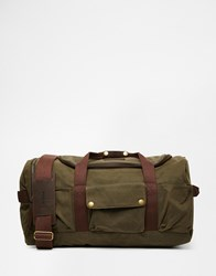 Barbour Waxed Cotton Holdall Brown