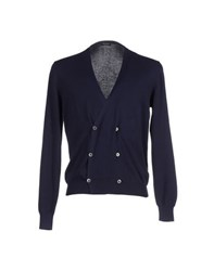 Gran Sasso Knitwear Cardigans Men Dark Blue