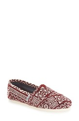 Toms Women's 'Classic' Slip On Oxblood Tribal
