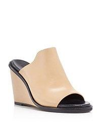 French Connection Pandra Wedge Slide Sandals Almost Nude