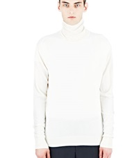 Aiezen Cashmere And Silk Roll Neck White