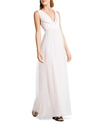 Bcbgeneration V Neck Tulle Gown Pink Dove