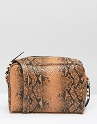 Asos Snake Boxy Shoulder Bag Multi