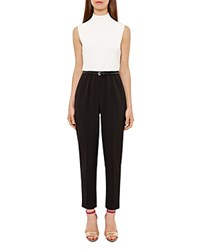 Ted Baker Maciie Color Block Jumpsuit Black