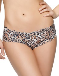 Hanky Panky After Midnight Leopard Print Crotchless Hipster Panty