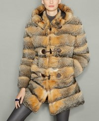 The Fur Vault Fox Hooded Parka Grey Fox