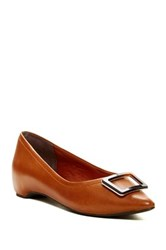 Rockport Buckle Pointy Toe Flat Brown