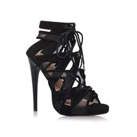 Kurt Geiger Hoxton High Heel Lace Up Sandals Black