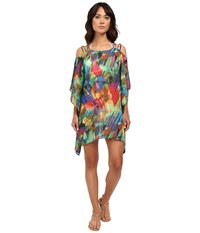 Lablanca Feathering Colors Cold Shoulder Tunic Rainbow Women's Swimwear Multi