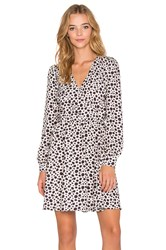 Oh My Love Fine Girl Leopard Wrap Dress White