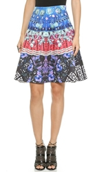 Clover Canyon Spanish Fan Flare Skirt Multi