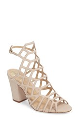 Vince Camuto Women's Naveen Cage Sandal Nude Nubuck Leather