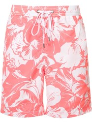 Onia 'Charles' Swim Shorts Pink Purple