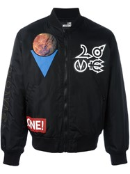 Love Moschino Planet Patch Bomber Jacket Black