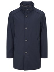 Bugatti 90Cm Funnel Neck Raincoat Navy