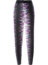 Fausto Puglisi Printed Tapered Trousers Black