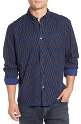 Scotch And Soda Men's Extra Trim Fit Print Woven Shirt