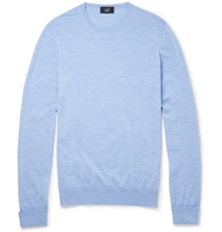Alfred Dunhill Merino Wool Sweater Blue