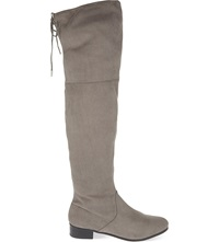 Carvela Supper Knee High Boots Grey